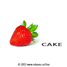 Cake Rebus #361 | Free Rebus Puzzles Are A Great Way To Start Your Day!