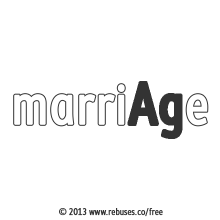 Marriage With Rebus #261 | Free Rebus Puzzles Are A Great Way To Start Your Day!