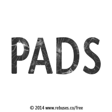 Pads Rebus #671 | Free Rebus Puzzles Are A Great Way To Start Your Day!