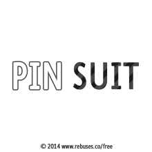 Pin Suit Rebus #659 | Free Rebus Puzzles Are A Great Way To Start Your Day!