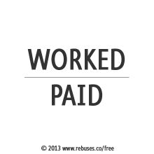 Worked Paid Rebus #345 | Free Rebus Puzzles Are A Great Way To Start Your Day!